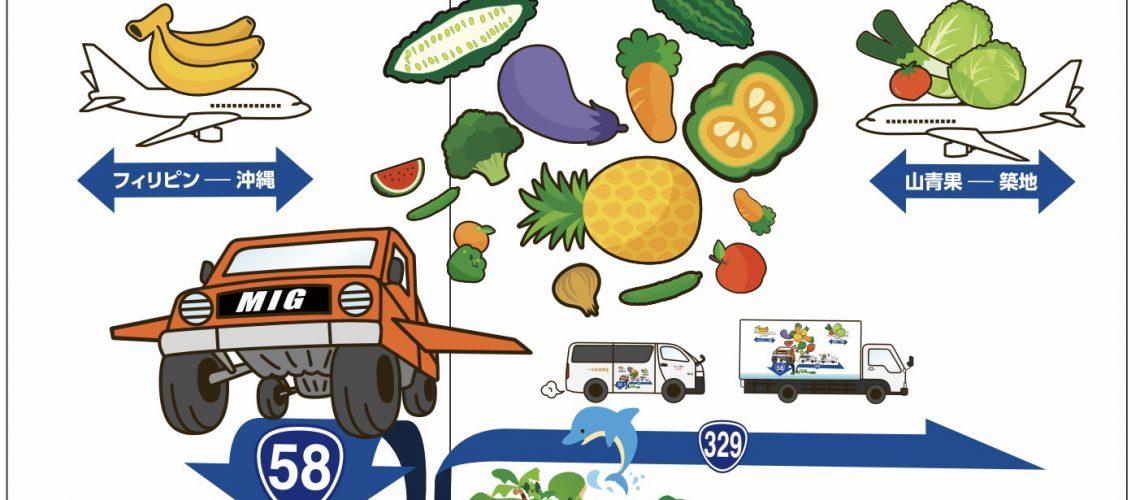 一日直送野菜、MIG物流、ヤマセイカ